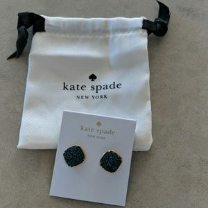 Kate Spade clay pave small square studs